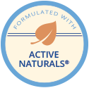 Formulated with Active Naturals