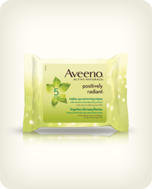 AVEENO® POSITIVELY RADIANT® Make-up Removing Wipes