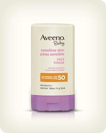 AVEENO® BABY® 敏感皮膚面部防曬膏 SPF 50